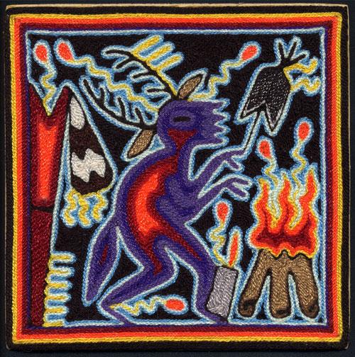 Indijska umetnost Huichol_anon_shaman