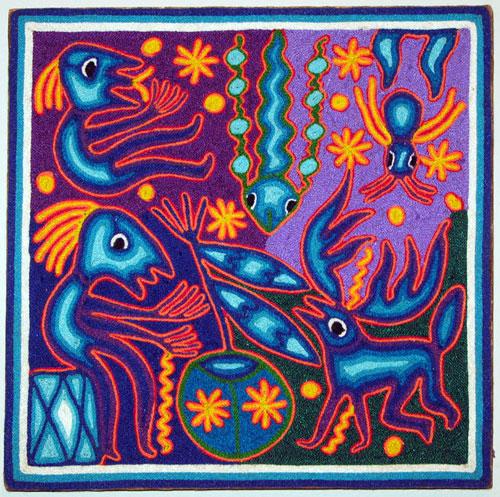 Indijska umetnost Huichol_benitez29
