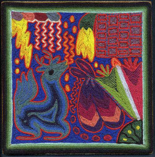 Indijska umetnost Huichol_carrillo_venado