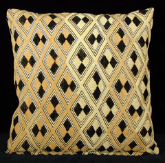 Kuba Cloth Pillows 1 :  congo indigoarts reverse applique kuba cloth