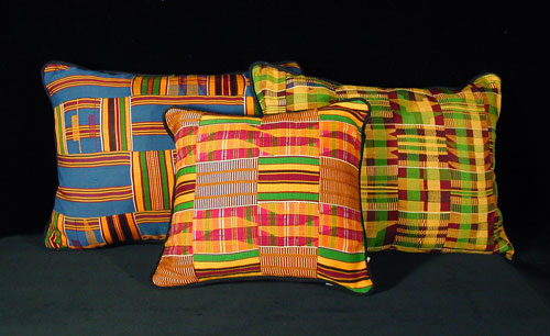 Kente Cloth Pillows 1 :  pillow accent pillow designer ewe