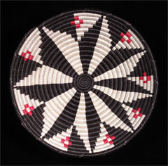 Medium Sisal Basket (red/white/black) (#rwb-06)