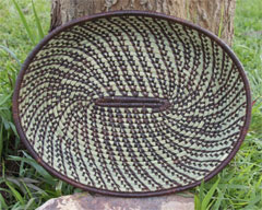 Brown Sweetgrass Oval Tray (#rwb-09)