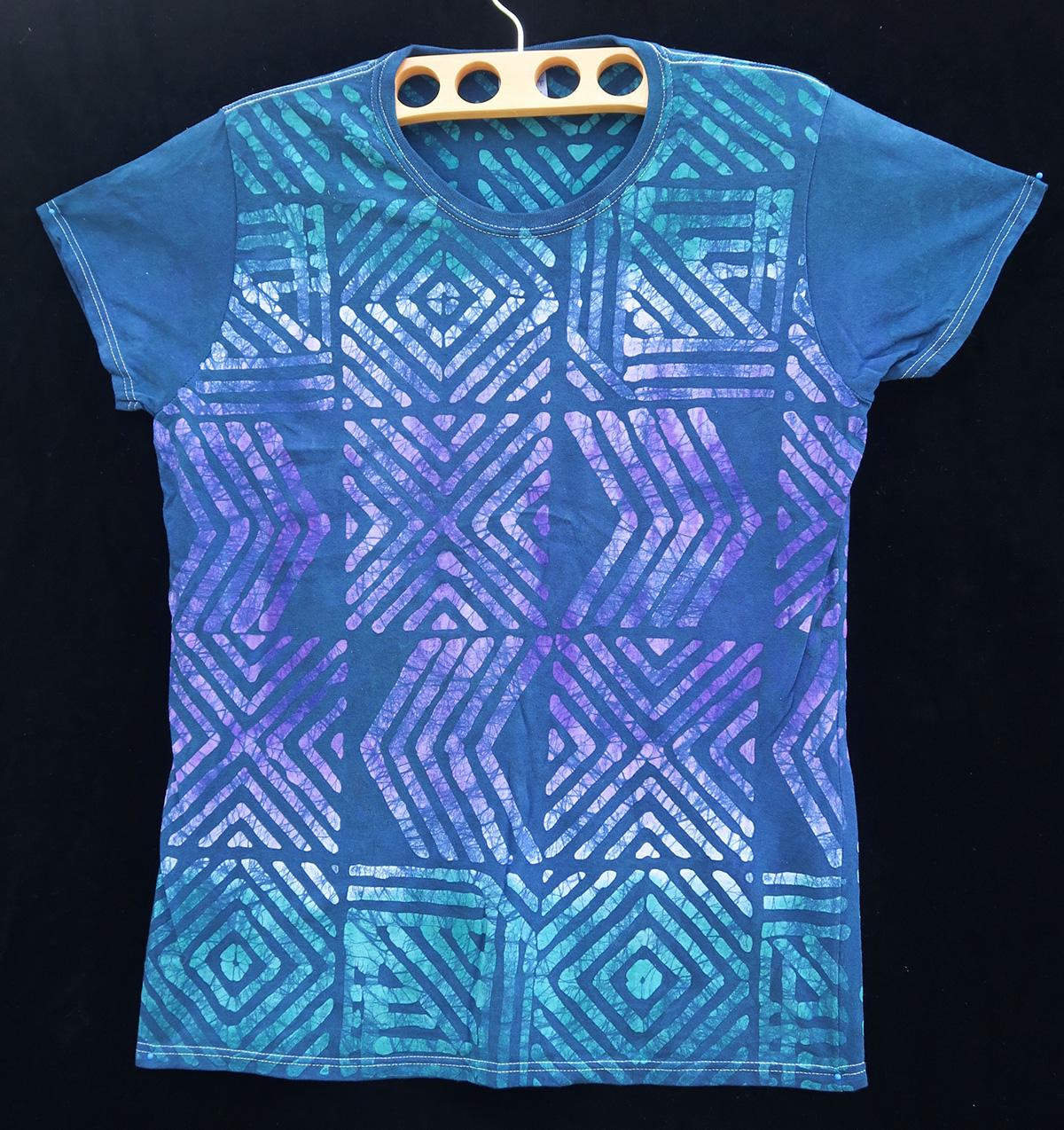 Batik T-shirt By Gasali Adeyemo - Large