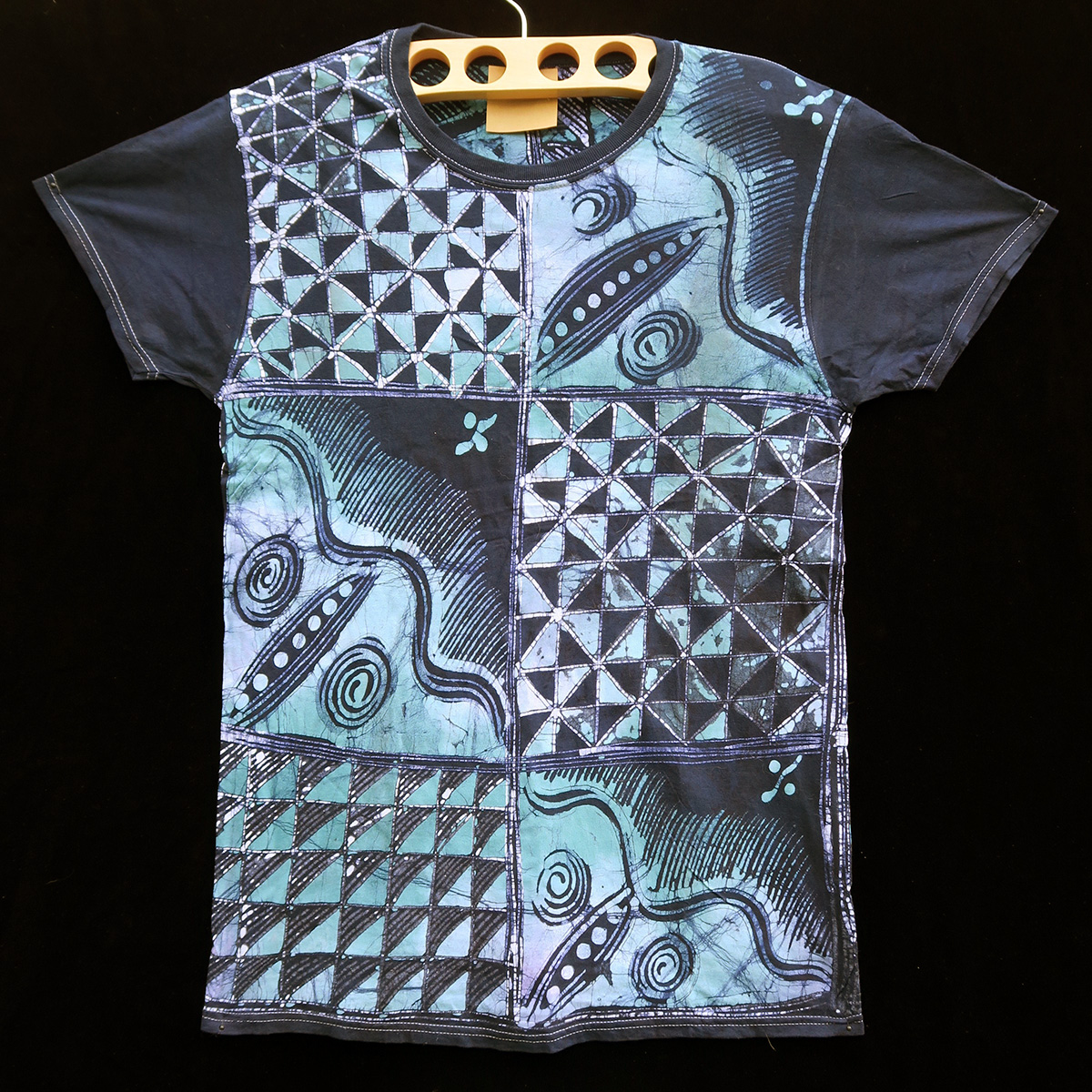 batik t shirt by gasali adeyemo indigo arts. Black Bedroom Furniture Sets. Home Design Ideas