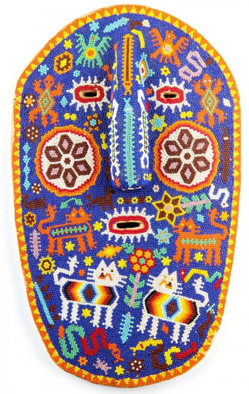 Huichol Beaded Mask Indigo Arts