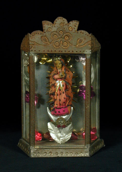 Virgen De Guadalupe Tin Nicho Indigo Arts