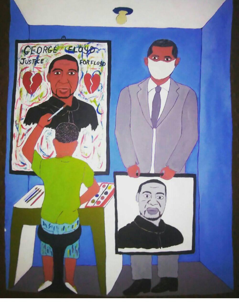 Tribute to George Floyd - Herold Pierre Louis (Haiti, 2020)