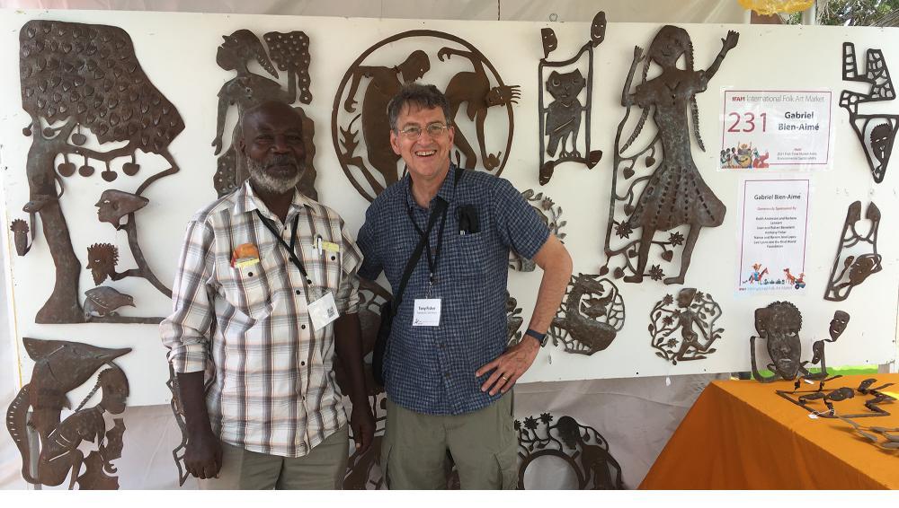 Gabriel Bien-Aimé and assistant - Santa Fe, July 2021