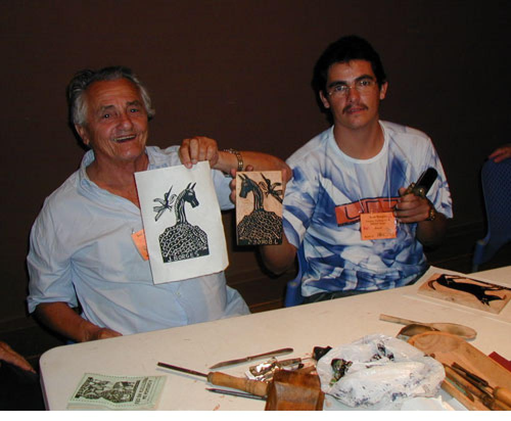José Borges and son Ivan Borges, 2005 (photo by A H Fisher, 2005)