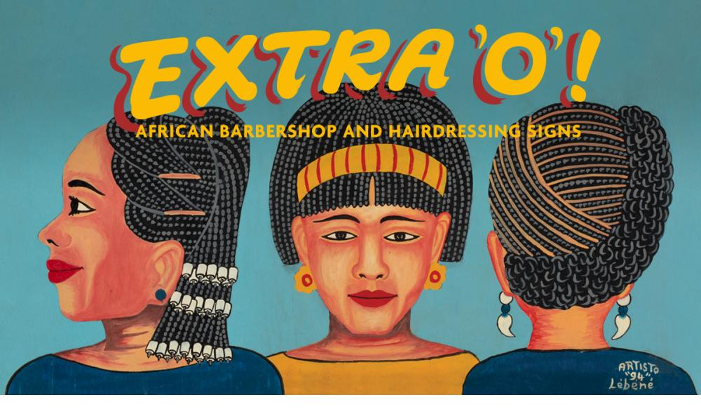 Extra 'O' African Barbershop and Hairdressing Signs