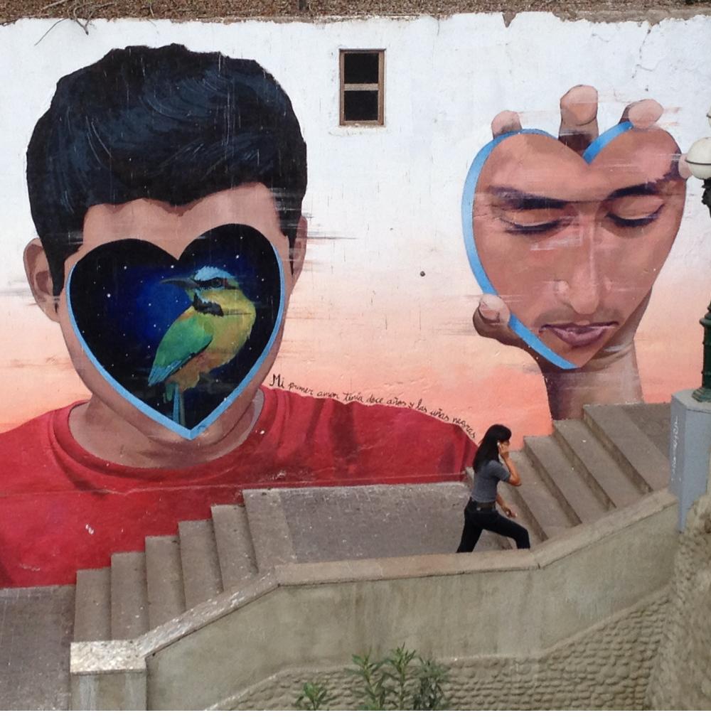 Mural by Jade Rivera in Barranco.
