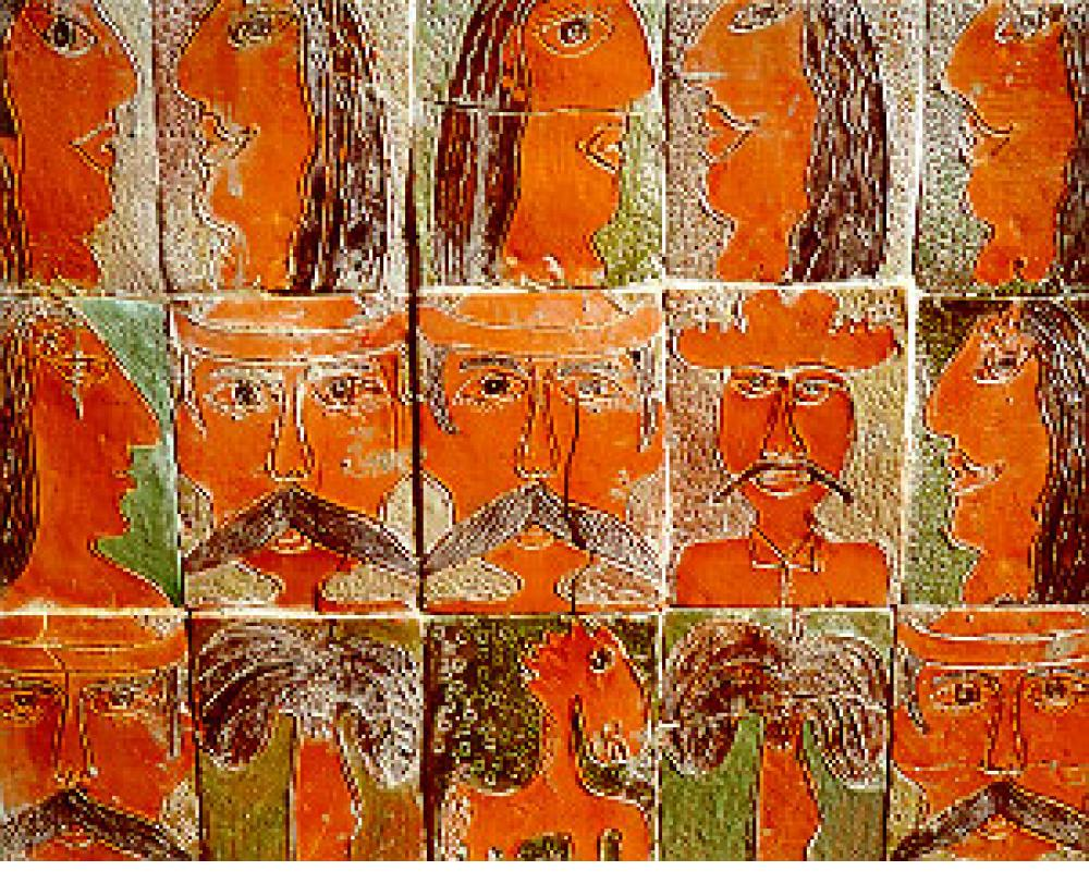 Tiles on the wall of José Fuster's Havana studio.