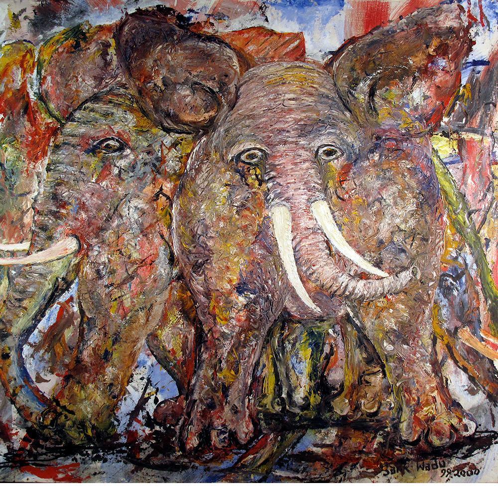 """Elephant Fossil - """"Sane"""" Mbugua Wadu (Kenya)"""