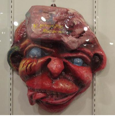 Caribbean Carnival - Earthquake Victim mask by Onel Bazelais (Jacmel, Haiti)