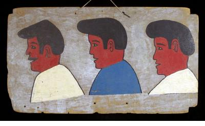 Three Men - hair sign (Burkina Faso)