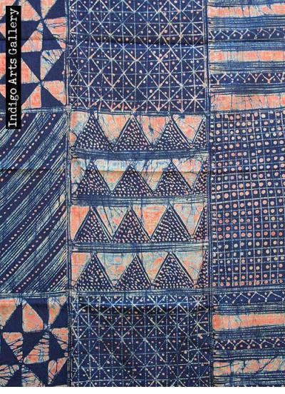 Indigo batik by Gasali Adeyemo.