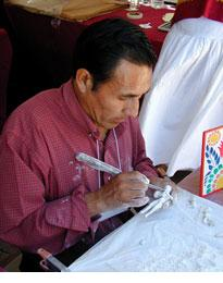 Claudio Jimenez Quispe at work in 2004.