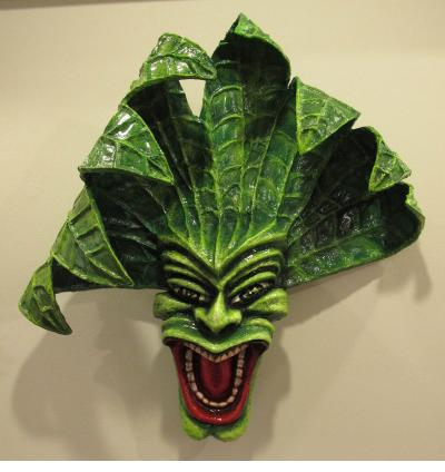 "Caribbean Carnival - ""Zemi of Tobacco"" mask by Francisco Jimenez (Dominican Republic)"