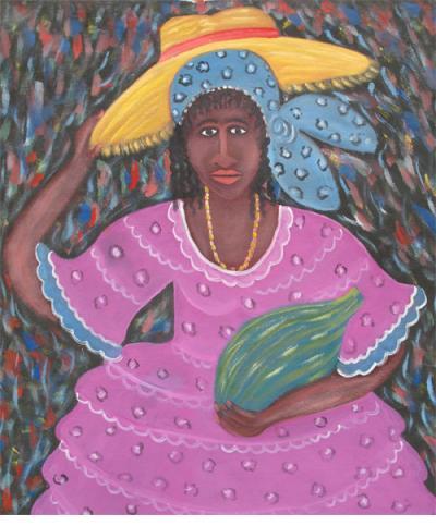 Woman in Purple - Gerard Fortuné