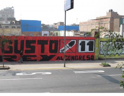 Peru was between the Presidential election and a runoff election when I was there, so a lot of graphics competing with the graffiti - Lima.