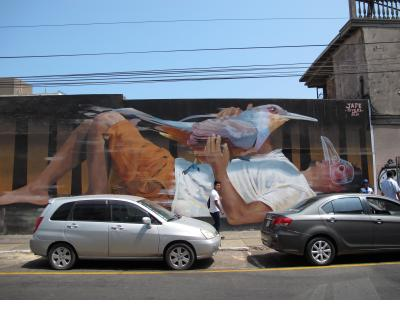 Mural by Jade Rivera in Barranco.