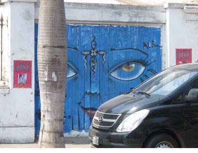 Blue feline in Barranco