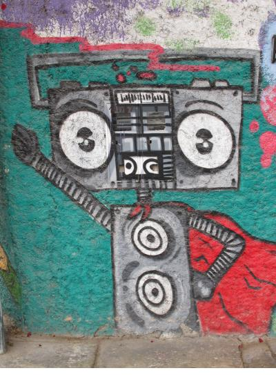 Boom box man in Barranco.