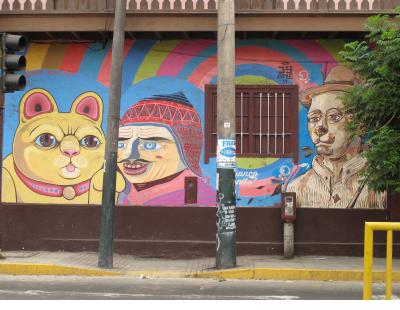 In Barranco in particular, the artists seem more ambitious - three figures by Jimbo-Nemo,
