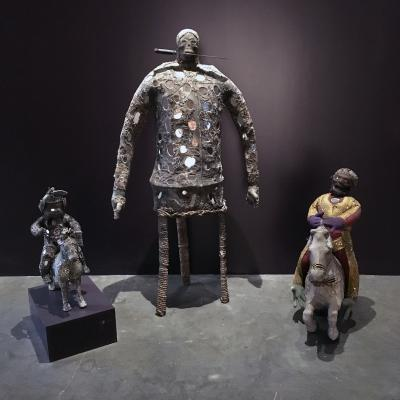 Three Bizango figures - Lherisson Dubreus