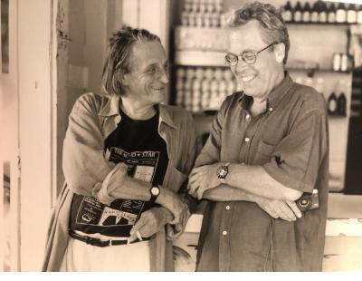Rudi Stern in Haiti with the film director Jurgen Leth.