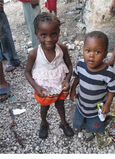 """Timoun"". Two of the children of the Gran Rue, November, 2009."