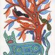 Blue Jaguar and Birds