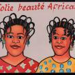 """Jolie Beauté Africaine"" Mini Hairdresser's Sign"