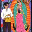 Juan Diego y la Virgen