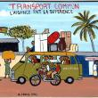 """Transport Commun"" Signboard"