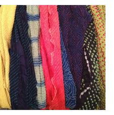 Bandhani Tie-dye Scarves from Gujarat, India