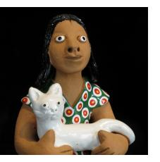 """Clay """"Vitalino"""" Figures from Brazil"""