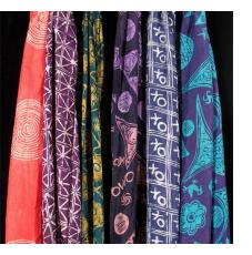 Batik and Tie-dye Scarves by Gasali Adeyemo of Nigeria