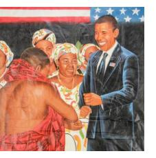Paintings from Ghana (Obama)