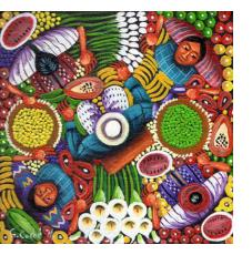 Contemporary Guatemalan Mayan Paintings