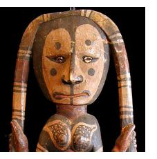 New Guinea tribal artists