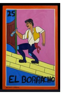 El Borracho - Loteria Card Painting