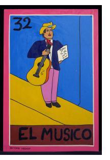 El Musico - Loteria Card Painting