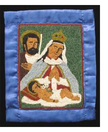 Nativity -  Haitian Sequinned Flag