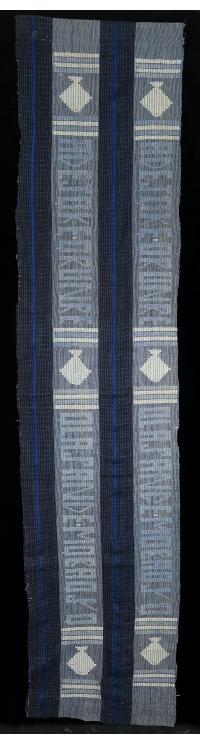 Indigo Ashoké (aso oke) Cloth with Text