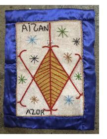 Aizan Beaded Vodou Flag
