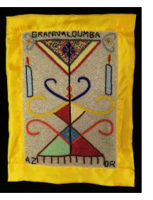 Gran Naloumba Beaded Vodou Flag