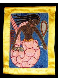 """La Sirene"" Beaded Vodou Flag"