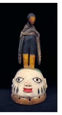 Fon Gelede Mask with Bird